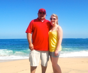Rene and I, beach side in SJ, PR